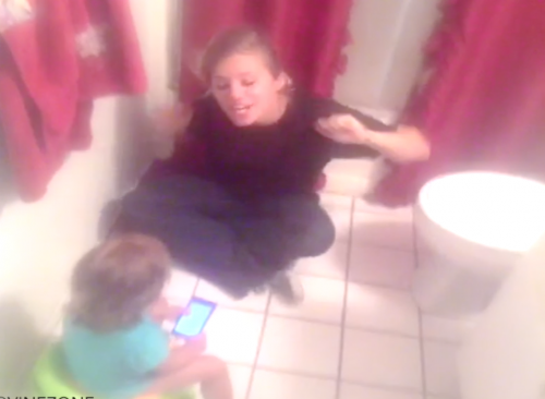 poop in the toilet with potty song